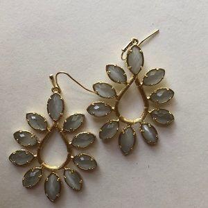 Vintage Kendra Scott Sari Earrings In Grey Slate